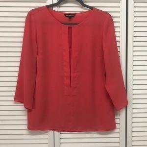 Express Coral Dress Shirt